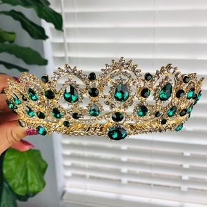 GREEN AND GOLD TIARA / CROWN